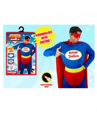 Personaliseerbaar superheld kostuum voor mannen
