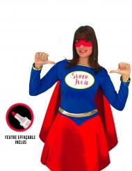 Personaliseerbaar superhelden kostuum voor vrouwen