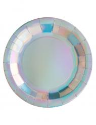 10 regenboogkleurige kartonnen borden