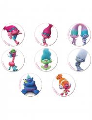 18 mini Trolls™ suikerschijven