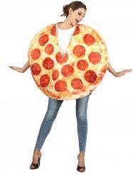 Pepperoni pizza kostuum voor volwassenen
