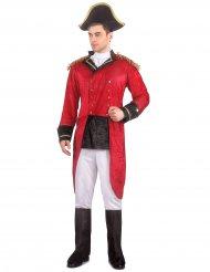 Rood Napoleon kostuum voor mannen