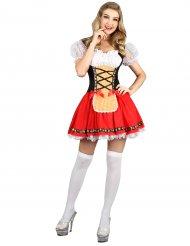 Rode Tiroler jurk voor vrouwen