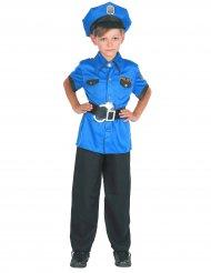 Blauw politie kostuum voor jongens