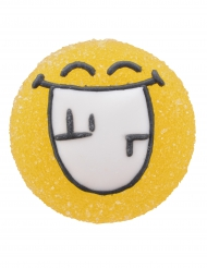 6 Smiley World™ suiker gelatine figuurtjes