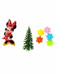 4 taartdecoraties Minnie Mouse™