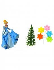 4 Disney Princesses™ Assepoester taart accessoires