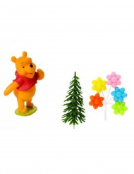4 Winnie the Pooh™ taart accessoires