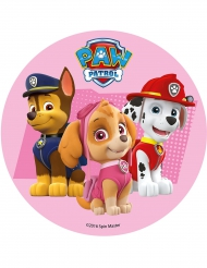 Roze eetbare Paw Patrol™ taartversiering