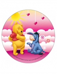 Eetbare schijf Winnie the Pooh™ roze