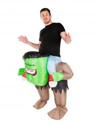 Opblaasbaar groen monster kostuum voor volwassenen