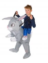 Opblaasbaar konijn kostuum voor kinderen