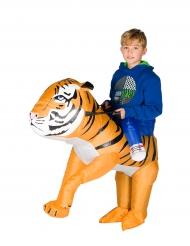 Opblaasbare tijger kostuum voor kinderen