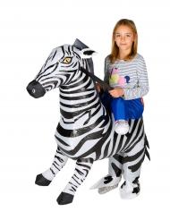 Opblaasbare zebra kostuum voor kinderen