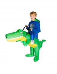 Opblaasbare krokodil kostuum voor kinderen