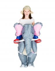 Opblaasbaar olifant kostuum voor kinderen