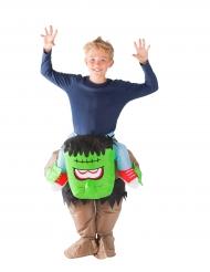 Groen opblaasbaar monster kostuum voor kinderen