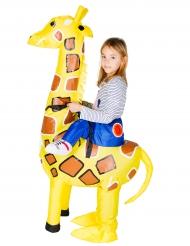 Opblaasbare giraffe kostuum voor kinderen