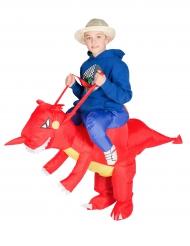 Opblaasbaar draak kostuum voor kinderen