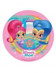 Roze eetbare Shimmer & Shine™ schijf