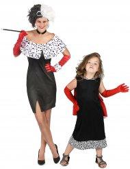 Cruellas koppelkostuum voor moeder en dochter