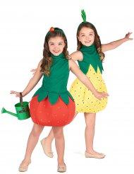 Ananas en aardbei koppelkostuum voor kinderen