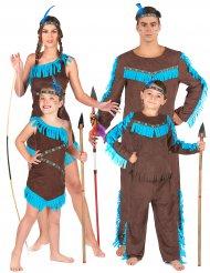 Indianen familie kostuum