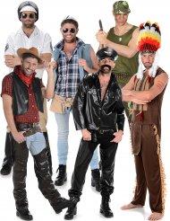 Disco sterren groepskostuum voor mannen