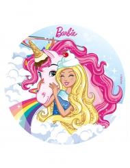 Suikerschijf Barbie™ met eenhoorn