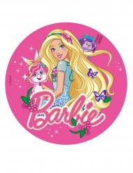 Eetbare Barbie™ schijf met vlinders