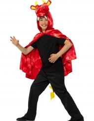 Rode draken cape voor kinderen