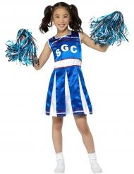 Blauw en wit cheerleader kostuum voor meisjes