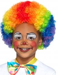Veelkleurige clown pruik voor kinderen