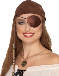 Bruin piraten ooglapje voor volwassenen