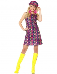 Hippie peacetekens flower power kostuum voor dames