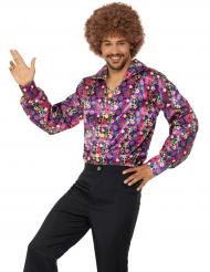 Flower power hippie peace blouse voor volwassenen