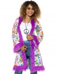 Jaren 60 hippie jas voor dames