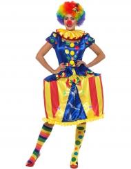 Lichtgevende draaimolen clown kostuum voor vrouwen