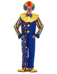 Donkerblauw clown kostuum voor mannen