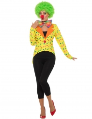 Gele clown slipjas voor dames