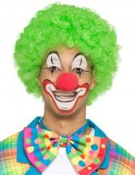 Kleurrijk neon clown strikje voor volwassenen