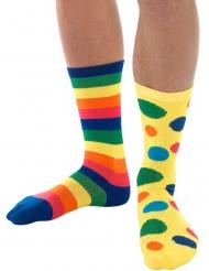 Veelkleurige clown sokken voor volwassenen