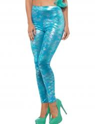 Turquoise zeemeermin legging voor vrouwen