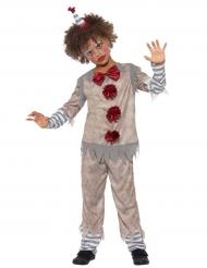 Rood en grijs vintage clown kostuum voor jongens