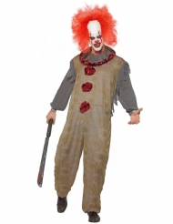 Vintage grijs horror clown kostuum voor mannen
