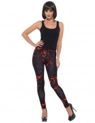 Bloederige zwarte legging voor volwassenen