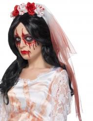 Bloederige bruidssluier voor volwassenen