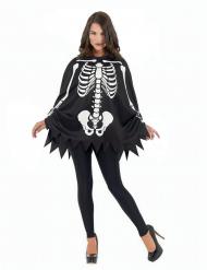 Skelet poncho en handschoenen voor volwassenen