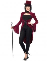 Luxe rode gothic vampier slipjas voor vrouwen