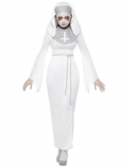 Witte bezeten non outfit voor vrouwen